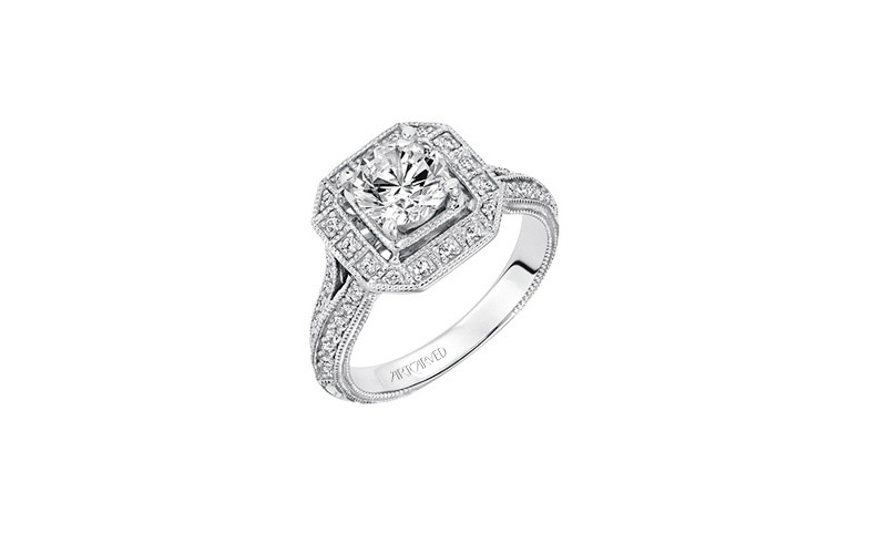 Engagement Rings with Vintage Style by ArtCarved Bridal