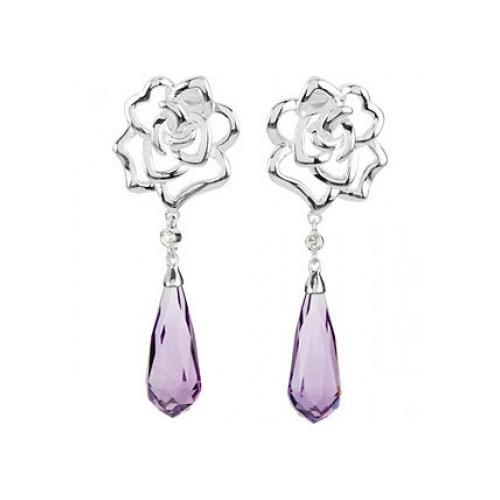 Striking Amethyst Earrings from Ben David Jewelers
