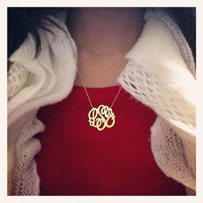 Next the Monogram Necklace is Made