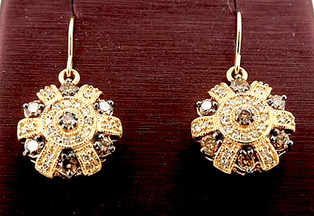 Coco and White Diamond Earrings