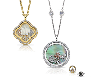 Silver lockets you can design in the Four Keeps line