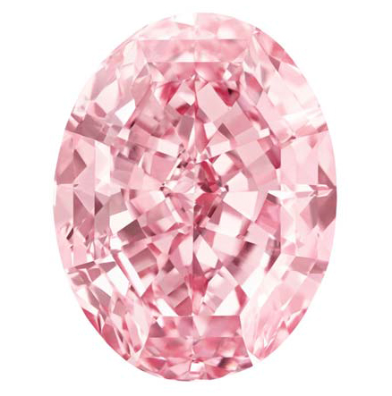 A photo of pink diamonds named The Pink Star