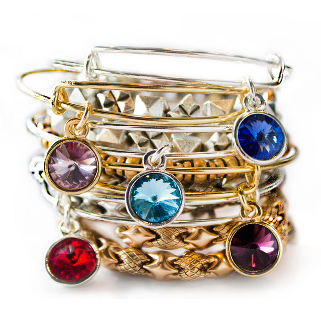Alex and Ani bangle collections include birthstones!