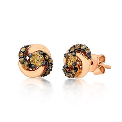chocolate diamonds in earrings