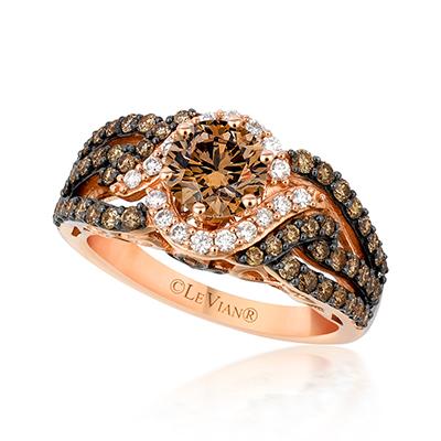 Chocolate Diamonds Engagemet Ring