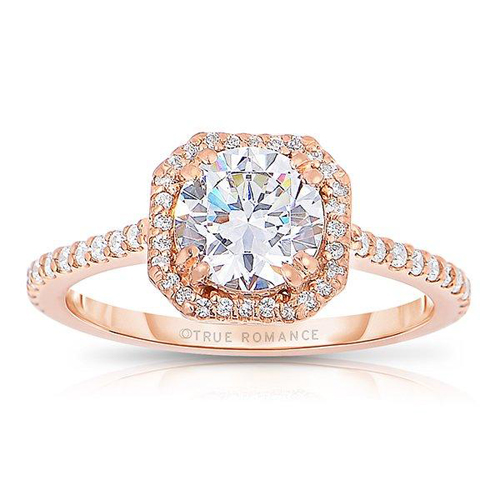 Pink ring for getting engaged