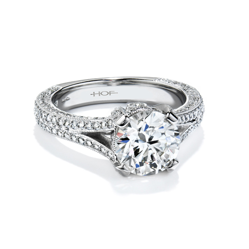 Hearts on Fire has many choices of white gold diamond rings.