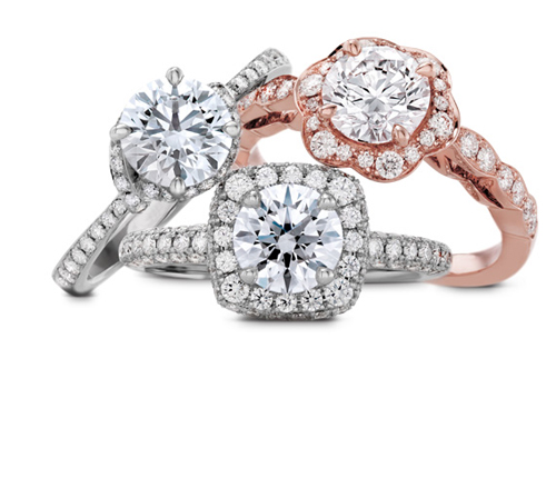Bridal ring sets and engagement rings from Hearts on Fire