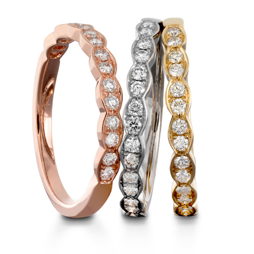 Hearts on Fire Rose Gold Wedding Bands