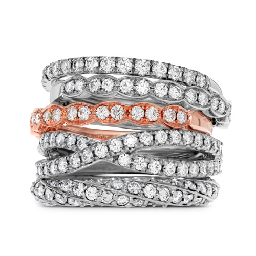 Wedding bands from Hearts on Fire for bridal ring sets