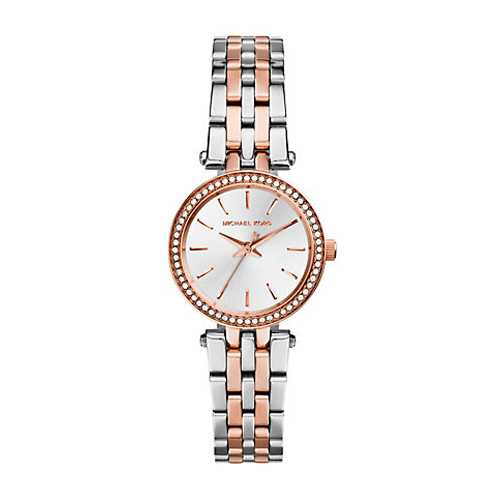 Jewlery and watches are beautiful gifts like this Michael Kors Petite Darci Silver Watch.