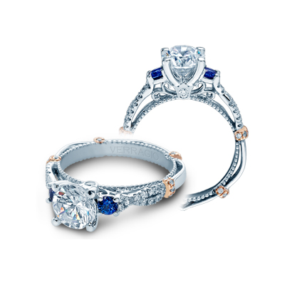 A beautiful ring for the bride, a diamond engagement ring.