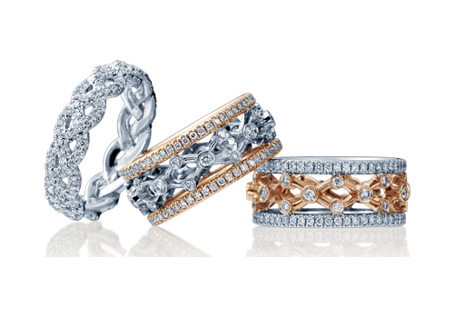 Wedding bands for Verragio's pretty wedding bands.