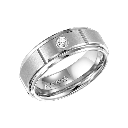 Men's diamond ring made of tungsten.