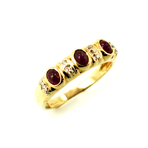 Estate jewelry cabachon ruby ring