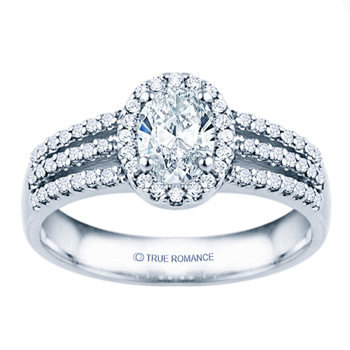 From Ben David Jewelers, halo engagement ring RM1394