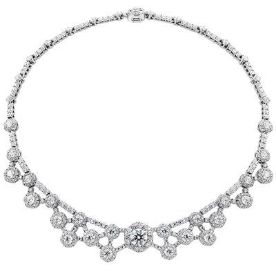 Diamond necklace designed by Hearts on Fire