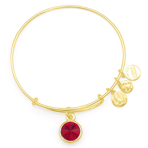 Birthstones from Alex and Ani bracelets.