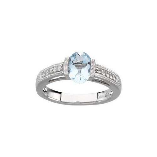Aquamarine engagement rings available at Ben David Jewelers.