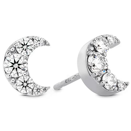 Hearts on Fire Half Moon Earrings