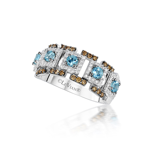 Baby blue diamonds in this ring by LeVian for Christmas