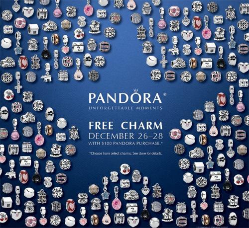 Pandora bracelets free bead today.