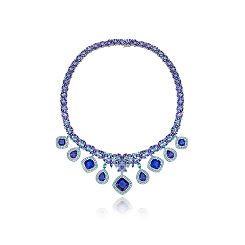 Blueberry Diamonds make this necklace from LeVian.
