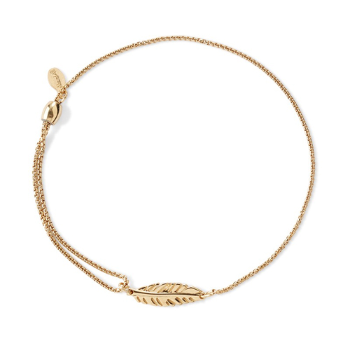 Alex and Ani's Feather Bracelet.