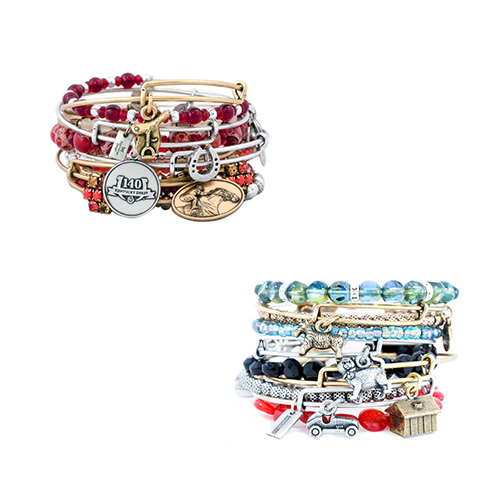 Bangle type of beaded bracelets from Alex and Ani.