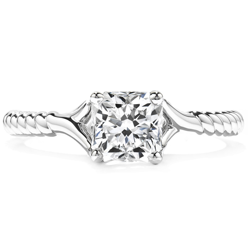 Marriage proposal engagement ring from Hearts on Fire's famous designs.