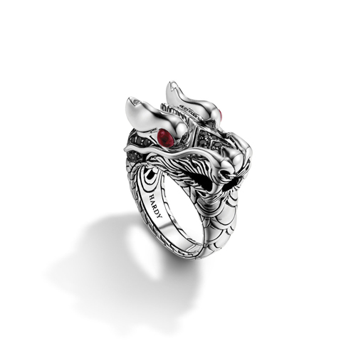 Handmade Sterling Silver Rings as dragon heads.