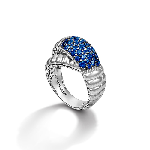 Handmade sterling silver rings designed by John Hardy.