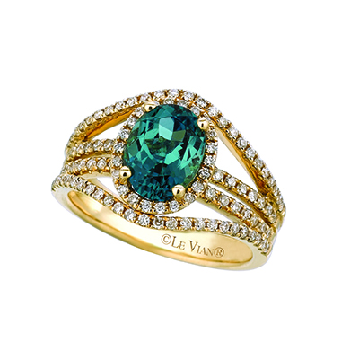 Emerald engagement rings are hard to find so you can use a LeVian green diamond ring.