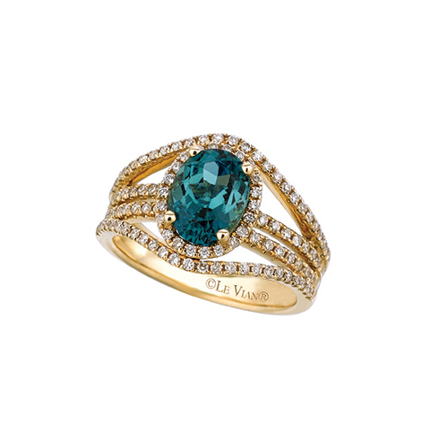 When emerald engagement rings are hard to find, use LeVian Green Diamonds instead.