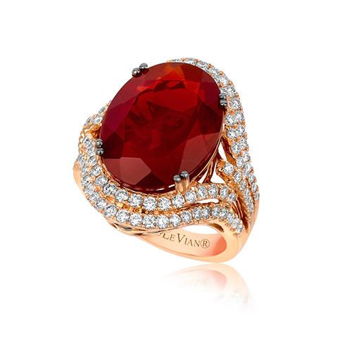 Red diamond rings are as beautiful as pink diamond rings.