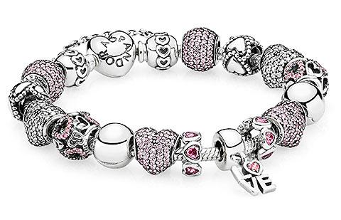 Pandora jewelry and beaded bracelets.