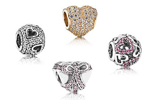 Pandora celebrates Valentine's Day with new beads.