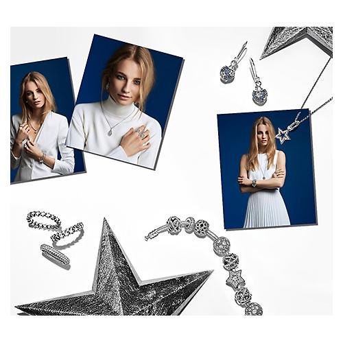 A variety of Pandora Jewelry.