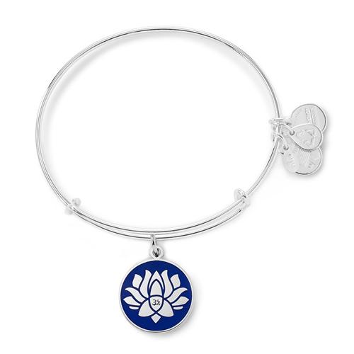 Alex & Ani Lotus Peace Petals Charm Bangle