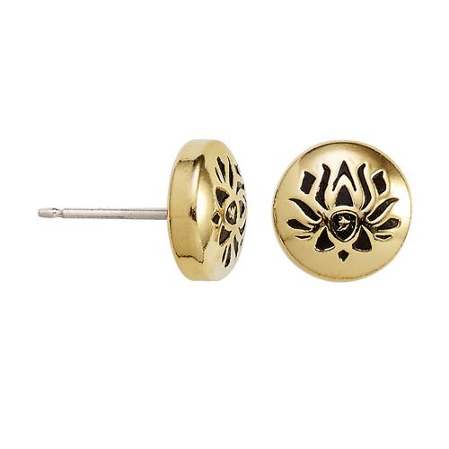 Alex and Ani Lotus Peace Petal Earrings