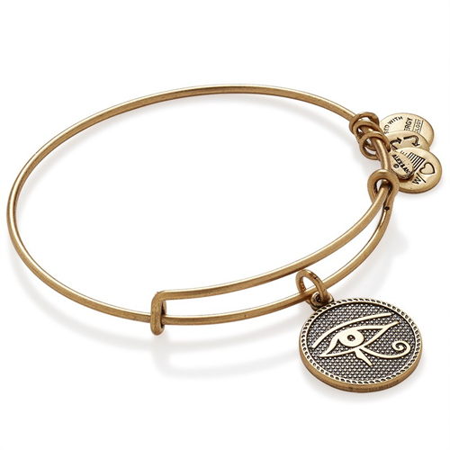The Eye of Horus Sacred Studs Bangle designed by Alex and Ani Jewelry.