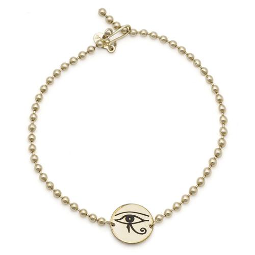 Alex and Ani Eye of Horus Sacred Studs Chain bracelet.