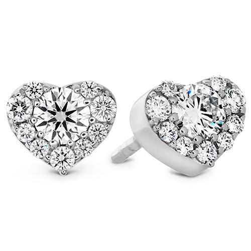 Diamond bridal earrings designed by Hearts on Fire