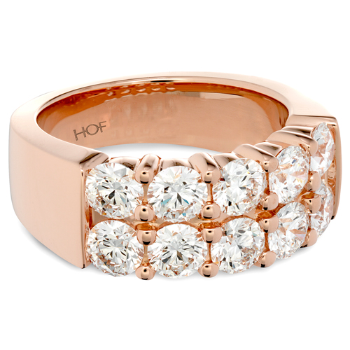 Rose Gold ring designed by Hearts on Fire.