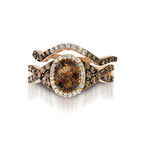 Engagement ring designed by LeVian and sold by Ben David Jewelers.