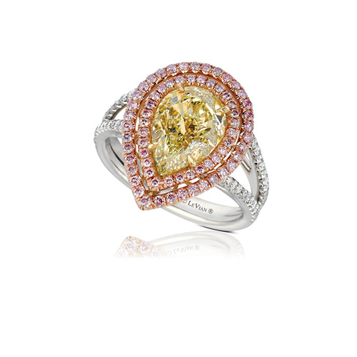 A Tear Drop Setting for a Yellow Chocolate Diamond Ring