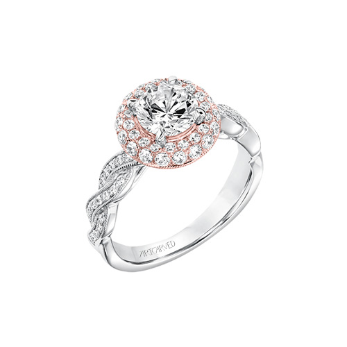 ArtCarved has many beautiful engagement ring to celebrate your marriage.