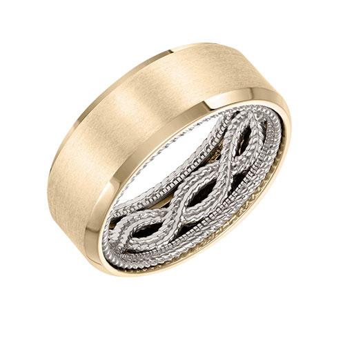 ArtCarved designs men's gold jewellery.
