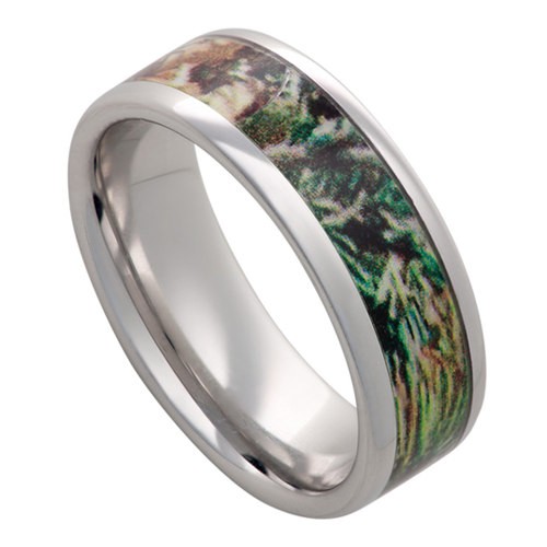 The Camo Hideout Men's Ring design.