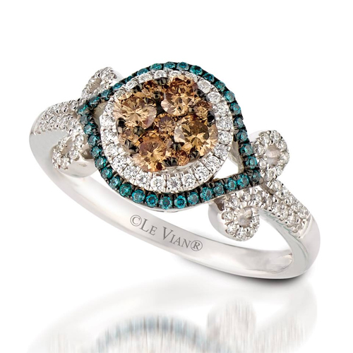 Chocolate Diamond rings are very popular when designed by LeVian Jewelers.